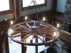 Wagon Wheel Candle Chandelier Handrails Railings Chandeliers