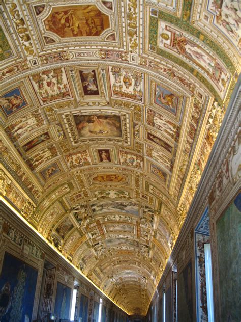 rome vatican city ceiling painting free stock photo
