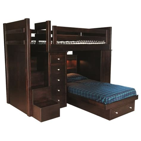 step 2 loft bed loft bed with step unit amish made bunk bed locally