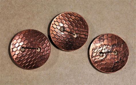 Handmade Buttons Uk - handmade copper buttons mesh pattern wildcraft