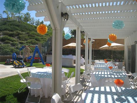 How To Decorate Backyard For Birthday by Real Aqua And Orange Chevron Giraffe Birthday Frog Prince Paperie