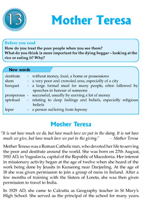 biography of english literature literature grade 8 biography mother teresa 1 english