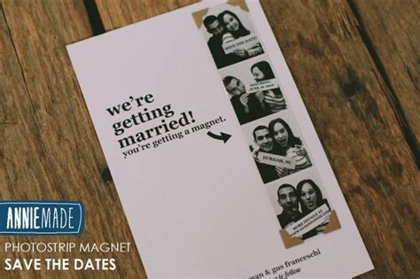 diy save the date card for magnets template diy photostrip magnet save the dates free templates