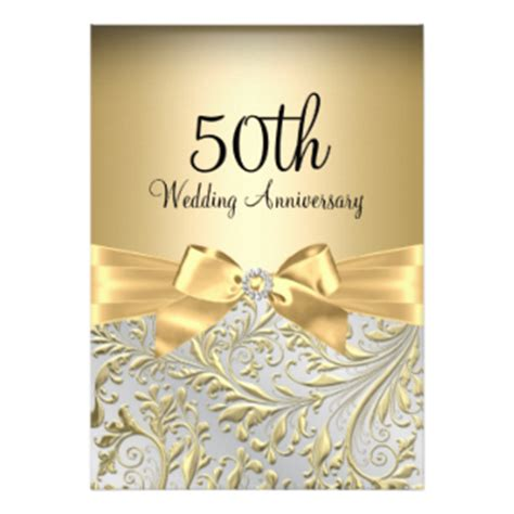 golden wedding anniversary invitation card 50th anniversary invitations announcements zazzle canada