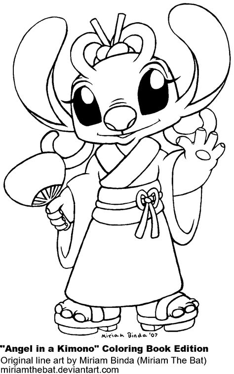 angel and stitch coloring pages coloring pages
