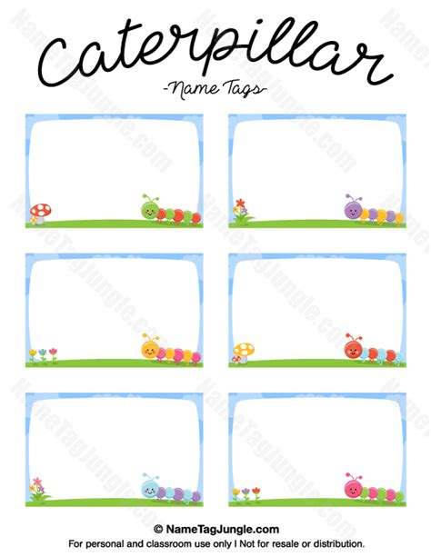 free printable name tags for work free printable caterpillar name tags the template can