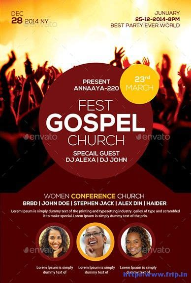 templates for church posters gospel fest church flyer template church graphic design