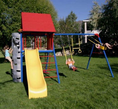 lifetime swings new lifetime play kids playground set slide climbing wall