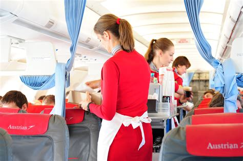 cabin crew in airlines file austrian airlines cabin crew service jpg wikimedia