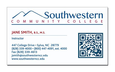Business Card Exles For An Mba by Business Card Request Form Southwestern Community College