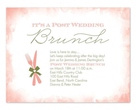 after wedding brunch invitations 13 best day after wedding brunch images on wedding dinner wedding and weddings