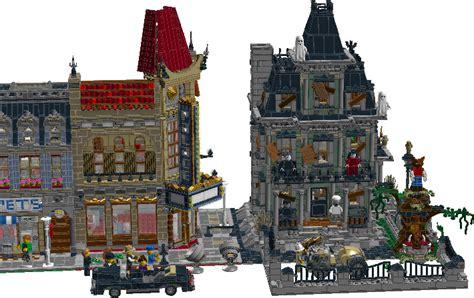 lego haunted house image gallery lego modular haunted house