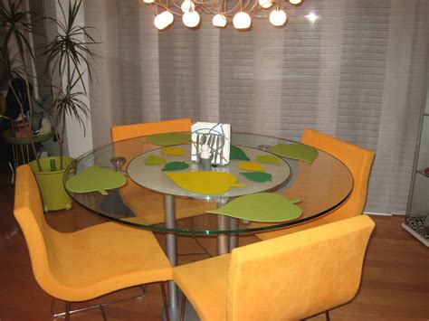 dining room table placemats leaf shaped place mats for round dining table ikea