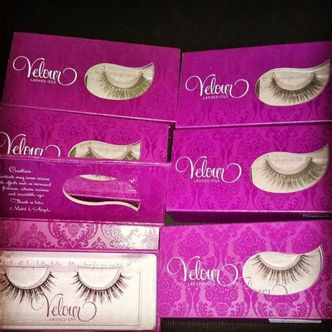 Velour false lashes    Tina Brocklebank