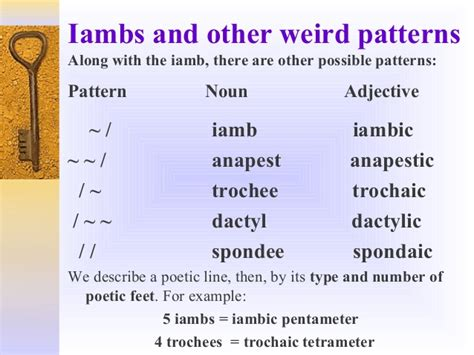 determine the pattern and name of the metrical foot used poetic meter