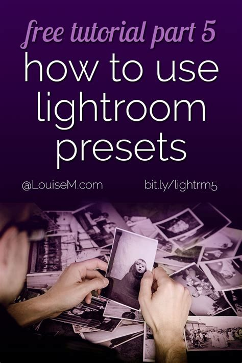 adobe photoshop tutorial how to edit a photo adobe lightroom tutorial 5 how to use presets