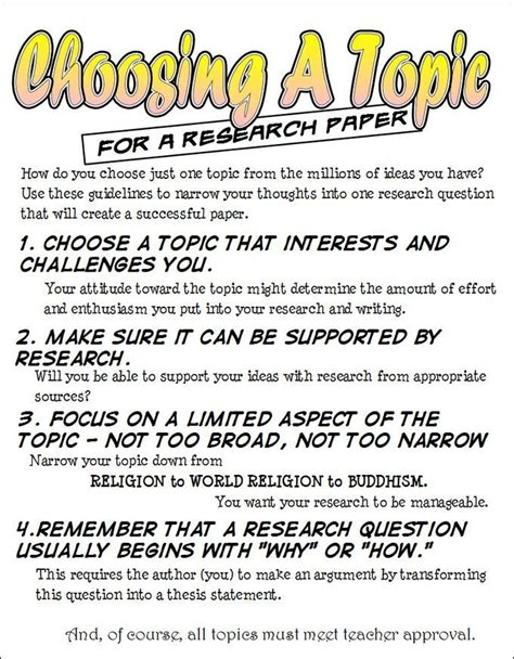 choosing a topic for a research paper how to choose a topic for a research paper