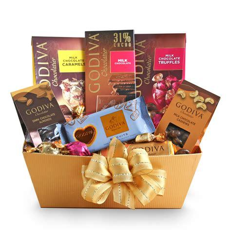golden godiva milk chocolate gift basket wine lovers