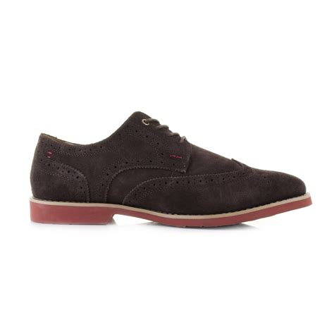 hush puppies suede shoes mens hush puppies fowler ez dress brown suede leather brogue shoes shu size ebay