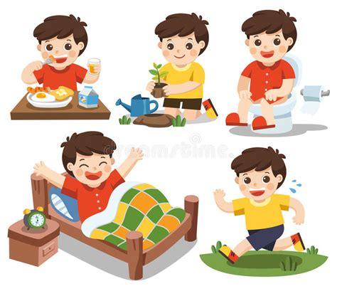 Kkpk My Days In America la rutina diaria de un muchacho lindo en un fondo blanco ilustraci 243 n vector ilustraci 243 n de