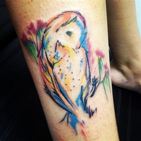 dark mark tattoo watercolor owl