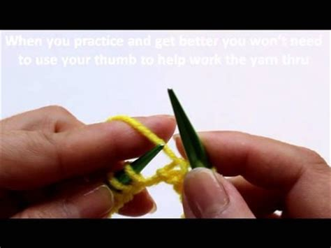 learn to knit sydney knitting help knit and purl on wrap yarn around needle