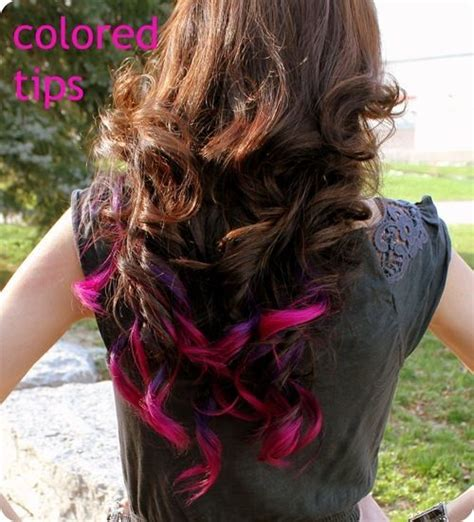 colored hair tips the 25 best colored hair tips ideas on dyed
