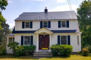 Dutch Colonial House Style Interlock 174 Slate Roof System Metal Roofing North Carolina