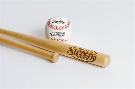 engraved mini baseball bat personalized ring bearer gift