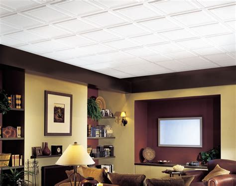 Residential Drop Ceiling Styles by Raised Panel Homestyle Ceilings Coffered Paintable 2 X 2