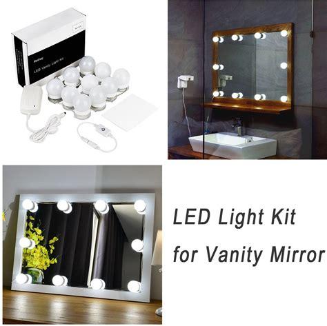 vanity mirror with lights amazon shoptagr hollywood style led vanity mirror lights kit