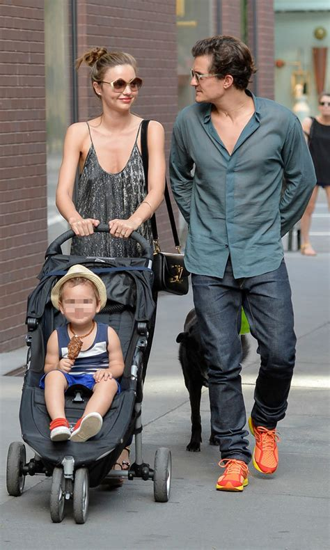 orlando bloom then and now miranda kerr and orlando bloom enjoy cute family day out