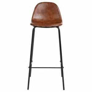 chaise chaise de bar vintage effet cuir