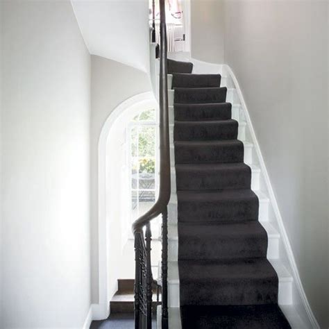 stairway to darkness rug step inside a fashion designer s georgian home grey walls house tours and carpets