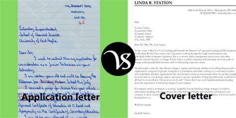 Curriculum vitae and cover letter difference