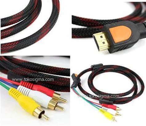 kabel hdmi to rca kabel hdmi to 3 rca av 1 5mtr toko sigma