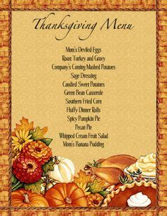 1000 Images About Thanksgiving On Pinterest Menu Template Restaurant Menu Template And Menu Template For Thanksgiving