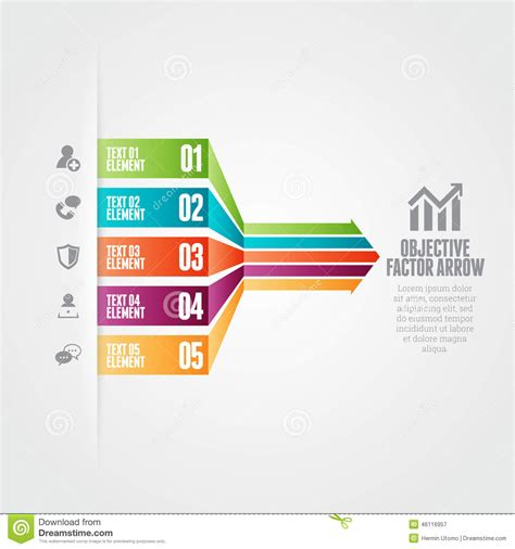 design management objectives objective factor arrow stock vector image 46116957
