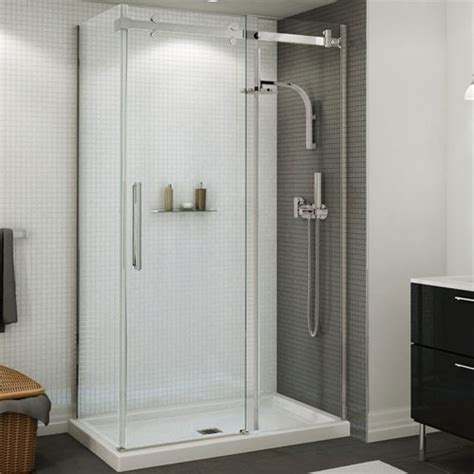 How To Install Maax Shower Door Maax 138996 900 Halo Sliding Shower Door 44 1 2 47 In Door Opening Left And Right Glass