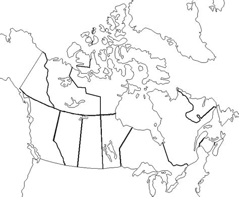 blank physical map of usa and canada political map of canada blank