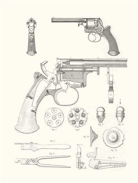 3d gun image 3d floor plans beaumont adams revolver blueprint download free