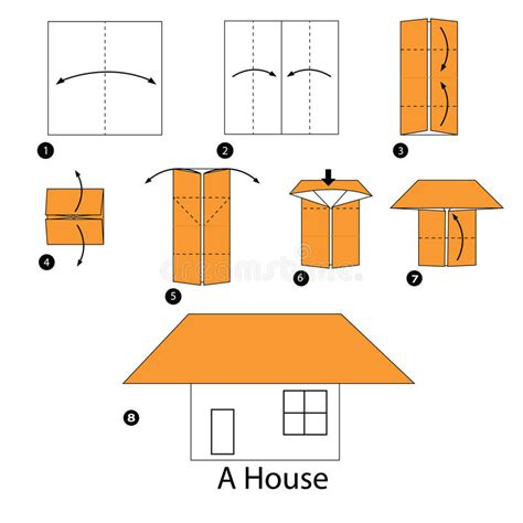 How To Make A Paper House Step By Step - step by step how to make origami a house