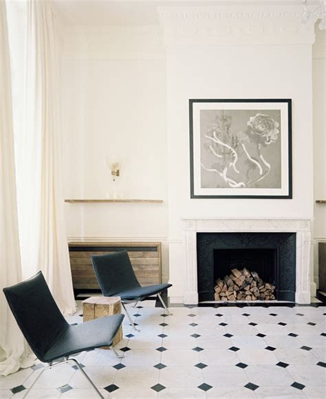 Black And White Fireplace Tiles by Black And White Tile Photos Design Ideas Remodel And Decor Lonny