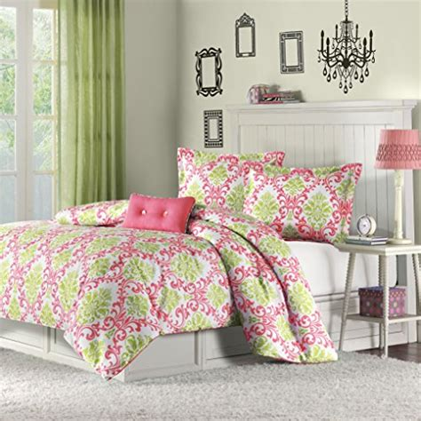 pink and green comforter sets lime green comforter and bedding sets