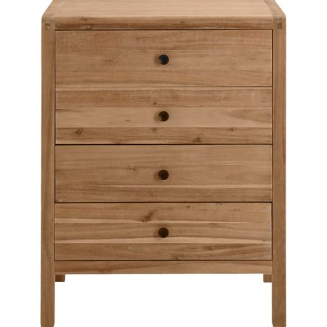 Alinea Commodes by Commode 4 Tiroirs En Acacia Gaia Commodes Alinea