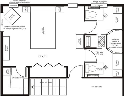Master Bedroom Ensuite Floor Plans | master bedroom addition floor plans his her ensuite