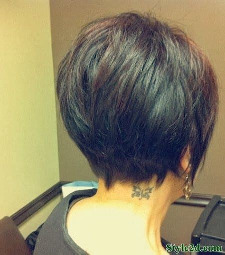 medium style hair with back a little shorter than sides medium hair styles back view of short haircuts for women