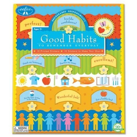 Wall Stickers Design Your Own good habits chart a mighty girl
