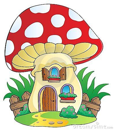 tato model kartun cartoon mushrooms cartoon mushroom house royalty free