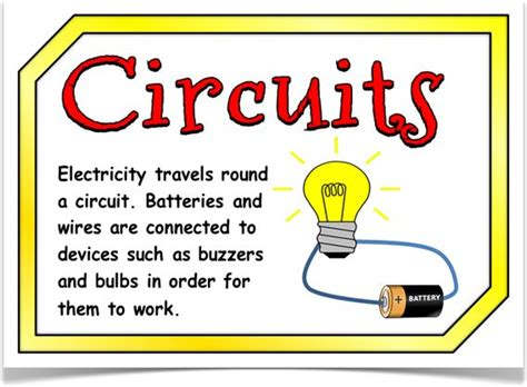 electrical circuits ks1 electricity posters treetop displays a set of 10 a4